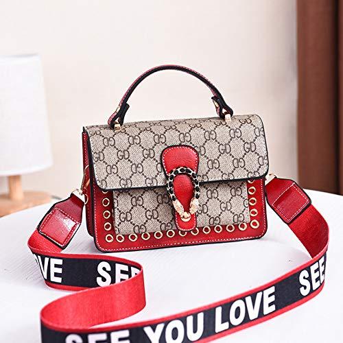 LFGCL Bags womenFashion Tide Umhängetasche Umhängetasche Damentasche, rot