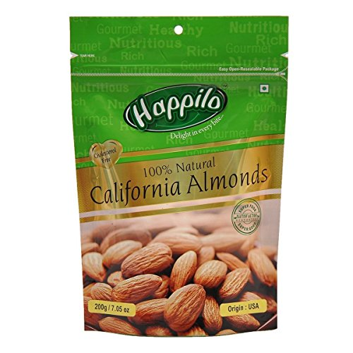 Happilo 100% Natural Premium Californian Almonds, 200g