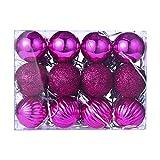 Bestow Árbol de Navidad decoración Bola Bola chuchería Colgante casa Partido Ornamento decoración (tamaño Libre, Rosa Caliente)