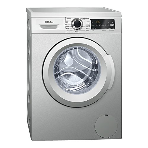 Balay 3TS984XT Independiente Carga frontal 8kg 1000RPM A+++ Acero inoxidable - Lavadora...