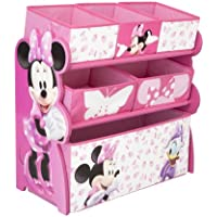 Delta Children Minnie Mouse Juguetero, Tela, Madera, Multi, Med
