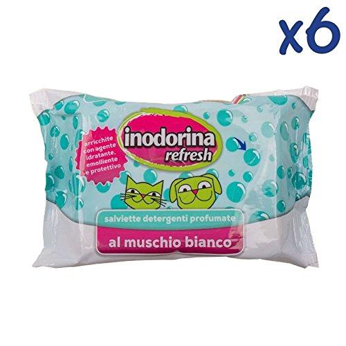 SALVIETTE INODORINA REFRESH 40 PZ - Salviettine detergenti profumate per cani, gatti e...
