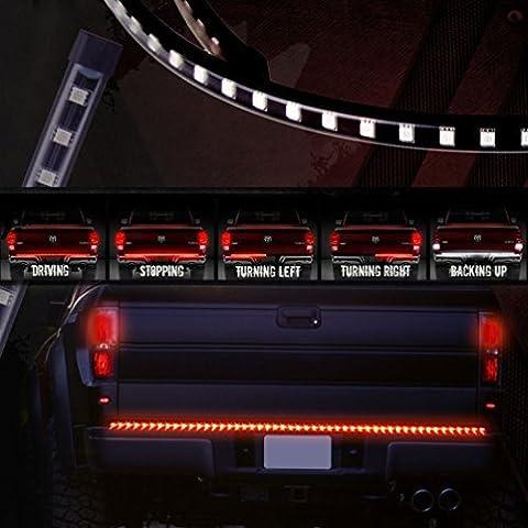 SUNPIE su-1276 60 Inch Truck Tailgate Light Bar LED Rouge/Blanc Conduire Lumière Drl Inversée Tourner Jaune Signal D'Arrêt Tail Strip Brake Lamp