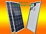 2 Stück 100 Watt Solarmodul Solarpanel Photovoltaik Solarzelle Monokristallin NEU von bau-tech Solarenergie GmbH