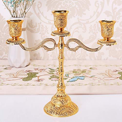 Wszzy portacandele,cinque testa tre candelabri, decorazione domestica europea candela tavolo a lume di candela, a