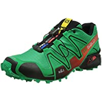Salomon Speedcross 3 Trail Laufschuhe real green-tomato red-black - 43 1/3