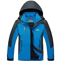 TACVASEN Men's Lightweight Water-Resistant Mountain Jacket with Hood