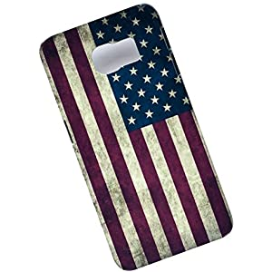 Samsung Galaxy S6 Edge Protective Slim Case. Tasche Cover. Flag of the United States. USA Flag.