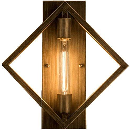 FWEF Lron pulsante parete lampada corridoio Lndividuality Lndustrial sala da pranzo Bar creativo Piazza Vintage Bar scala parete luce 35 * 36cm - Cristallo Sweep Goccia