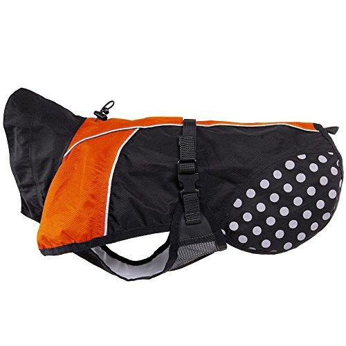 'Perros de lluvia Chaqueta 'Beta Pro Rain Coat, Naranja/Negro,