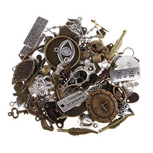 IPOTCH 100 Colgante de Gramos Antiguos Steampunk Fabracación Collar, Gargantilla Colgante de Manualidades