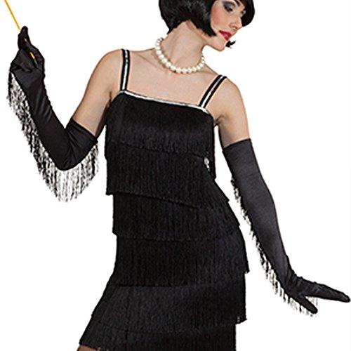 Lange Charleston Handschuhe 20er Jahre Damenhandschuhe Fransen Fingerhandschuhe Flapper Girl Fransenhandschuhe 30er Jahre Opernhandschuhe Mafia Galahandschuhe Karnevalskostüme Accessoires