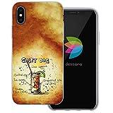 dessana Cocktail Rezepte Transparente Silikon TPU Schutzhülle 0,7mm Dünne Handy Tasche Soft Case für Apple iPhone X Salty Dog