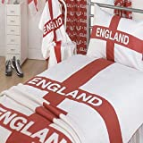 Smiths Trading Scotland Ltd, Bettwäsche mit der Flagge Englands mit dem Georgskreuz, Bettwäsche-Set für Einzelbett