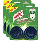 Harpic Flushmatic In-cistern Toilet Cleaner Twin-pack, Pine - 100 g (Pack of 3)