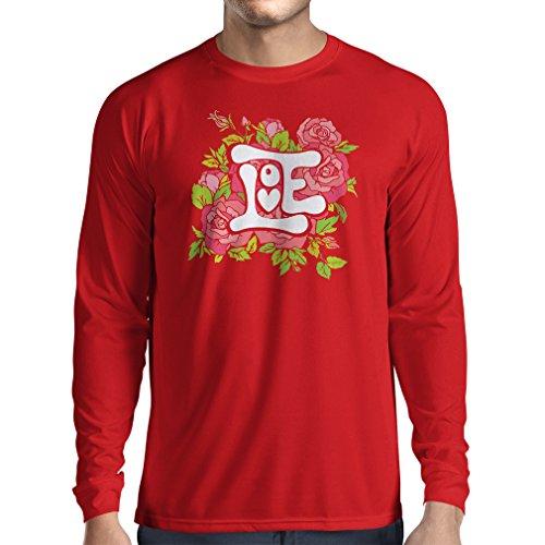 """T-Shirt mit langen Ärmeln """"Lieb mich""""– VALENTINSTAG Geschenkideen für Verliebten Rot Mehrfarben"""