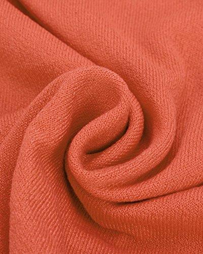 ZANZEA Femme Casual Lâche Automne Irrégulier Manches Chauve-souris Longue Pull-over Shirt Orange