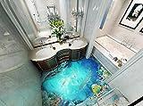 Yosot Benutzerdefinierte 3D-Tapeten Bad 3D Bodenfliesen Ozean Selbstklebende Wasserdichte Tapete-200cmx140cm