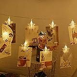 Mjia Lamp Halloween-Schnur,Fotoclip, Sternschnur, Kreatives Stereo fünfzackiges Sternnachtlicht, Batteriekasten, A, 5 Meter 50 Lichter