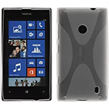 Funda de silicona para Nokia Lumia 520 - X-Style transparente - Cover PhoneNatic Cubierta + protector de pantalla