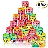 THE TWIDDLERS 96 Mini Molle Arcobaleno con Sorriso. Slinky Piccolo - Ideale Come regalini per Borse da Festa - Bomboniere Giocattolo fine Bambini Compleanno