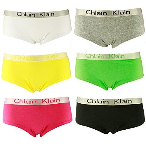 6er Pack L&K-II Damen Panties Hipsters Boxershorts CDU3411 Größe 38/40