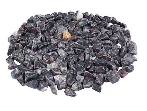 Prisha Decorative Dark Green Chips Stones, Pebbles,Glossy Stones for Home Decor, Garden, Vase Filler, 2.2 Pounds - Dark Green-chip