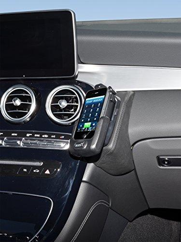 KUDA 2260 Halterung Echtleder schwarz für Mercedes GLC ab 2016 (X253) Iso Mount (iso-radios