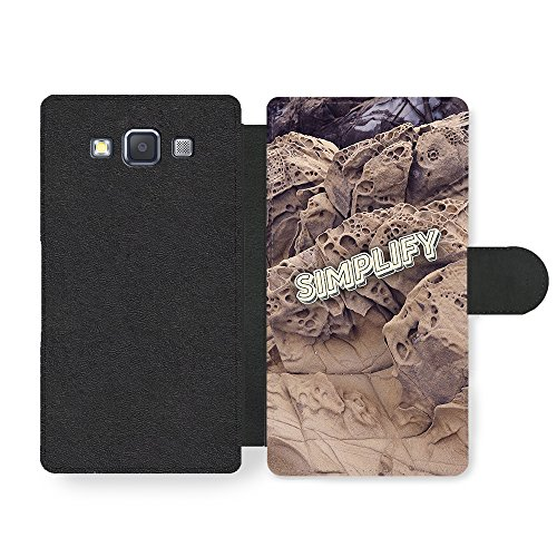 simplify-quote-on-hipster-rock-countryside-desert-style-custodia-in-faux-pelle-per-samsung-galaxy-a3