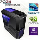 PC24 Gaming PC   Intel i7-7700K @4x4,50GHz   nVidia GF GTX 1080 mit 8GB RAM   16GB DDR4 PC2133 RAM   Gigabyte GA-Z170X-Gaming 5 Mainboard   600Watt 80+ ATX Netzteil   Windows 10 Pro   i7 Gamer PC