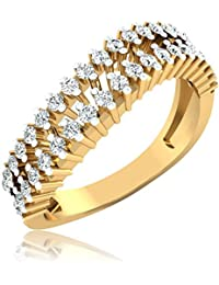IskiUski Tara Ring 14Kt Diamond Yellow Gold Ring Yellow Gold Plated For Women