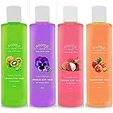 #8: Aroma Secrets Kiwi,Lavender,Pitch & Litchi Premium Body Wash combo-(BKKB-4)