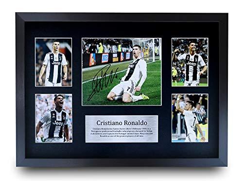 HWC Trading Cristiano Ronaldo A3 Gerahmte Signiert Gedruckt Autogramme Bild Druck-Fotoanzeige Geschenk Für Juventus Fußball Fans -