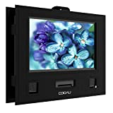 """COOAU Car Headrest Mount Holder Hands-free Carry Case for 9"""" - 9.5"""" Portable DVD player with Swivel & Flip Screen"""