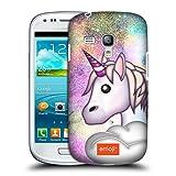 Head Case Designs Offizielle Emoji Glitzernder Einhorn Trends Ruckseite Hülle für Samsung Galaxy S3 III Mini