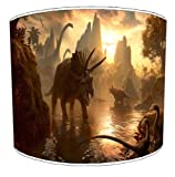 Premier Lampshades - 12 Inch Ceiling Dinosaur Scene - Best Reviews Guide