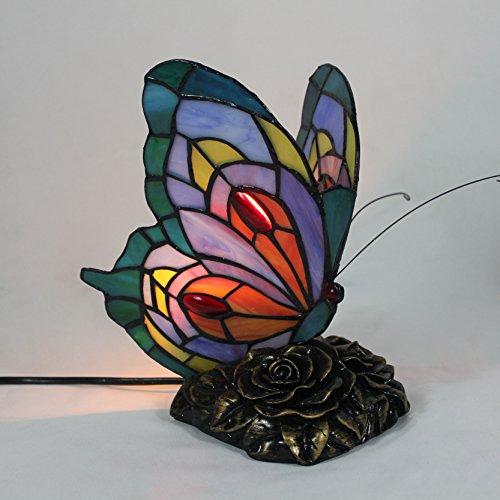 Style Pastoral Kreative Schmetterling Tischlampe Kinderlampe Nachtlicht - 20 cm (Deco-schreibtisch-lampe)