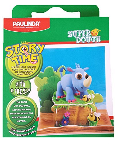 paulinda-super-dough-story-time-modeling-kit-rhinoceros-with-bees-and-display-by-paulinda