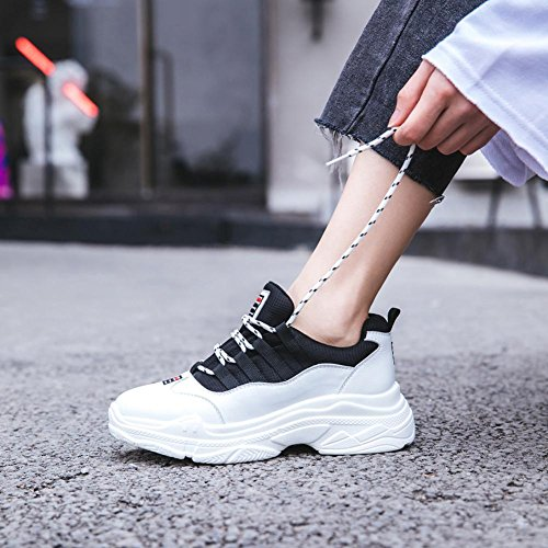 Chaussures à Plateformes Femme WSXY-A1407 Sneakers Outdoor Running Sports Gym Shoes,KJJDE white