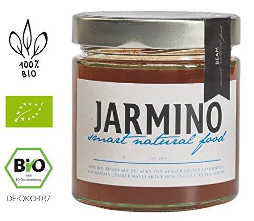 JARMINO caldo de hueso de carne ecológico en tarros / ganado alimentado con hierba / colágeno y ácido hialurónico naturales / caldo de hueso (1 x 350 ml)