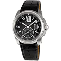 Los Hombres de Cartier W7100041 Calibre de Cartier Correa De Piel Reloj