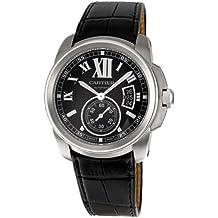 Los hombres de Cartier W7100041calibre de Cartier correa De piel reloj