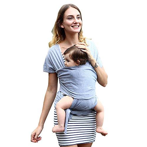 Babytragetuch, Babytragetuch reine Baumwolle Tragfähigkeit 20KG Elastisches Atmungsaktiv Babybauchtrage Baby wrap für Neugeborene Kleinkinder