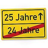 DankeDir! 25 Jahre (24 Jahre Vorbei) - Kunststoff Schild, Geschenk 25. Geburtstag, Geschenkidee Geburtstagsgeschenk Fünfundzwanzigsten, Geburtstagsdeko/Partydeko / Party Zubehör/Geburtstagskarte