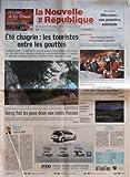 Telecharger Livres NOUVELLE REPUBLIQUE LA N 19060 du 11 07 2007 ETE CHAGRIN LES TOURISTES ENTRE LES GOUTTES BERCY FAIT LES YEUX DOUX AUX EXILES FISCAUX EDITORIAL JACK ET DSK PAR HERVE CANNET CHU DE TOURS ULTRASONS UNE PREMIERE NATIONALE INDRE ET LOIRE POUR TENIR UN BISTROT IL FAUT PASSER LE PERMIS TOURAINE COTE SUD UNE TAXE DE SEJOUR POUR AIDER L AGENCE TOURISTIQUES LOCHES LE TRIBUNAL D INSTANCE MENACE CANDIDE ON VEUT L ETE SOMMAIRE LE FAIT DU JOUR FAITS DE SOCIETE GRAND T (PDF,EPUB,MOBI) gratuits en Francaise