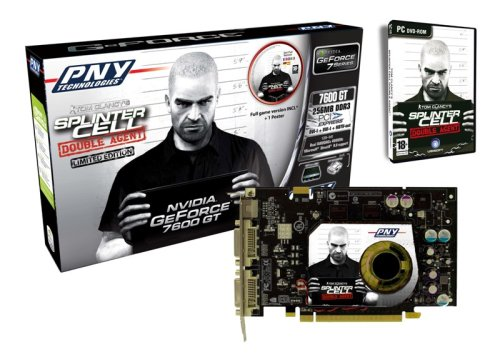 PNY NVIDIA 7600 GT PCI-Express Grafikkarte bundle inklusive Splinter Cell Double Agent PC Version (256MB DDR3 Ram, 2x DVI, 1x HDTV-Out) Retail (Pci-card Bundle)