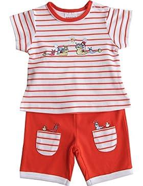 Schnizler Mädchen Bekleidungsset Schneckchen mit T-shirt Geringelt und Shorts