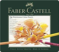 Idea Regalo - Faber-Castell 110024 Matite Colorate, 24 Pezzi