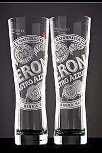 Peroni Lot de verres pour demi-pinte de bierre