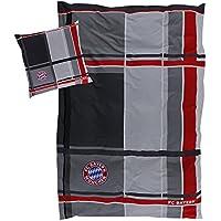 FC Bayern Bettwäsche Karo 135x200cm 80x80cm